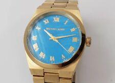 Michael Kors Channing MK5894 Women's Blue Dial Gold Tone Watch