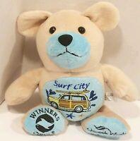 Chinook Winds Casino Resort Plush Tan Blue Bear Surf City Plush Stuffed Toy