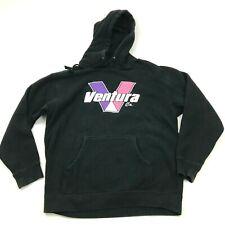Ventura California Sweater Hoodie Size Large L Black Long Sleeve Pullover Mens