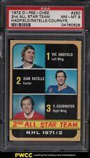 1972 O-Pee-Chee Hockey 2nd AS Team Hadfield Ratelle #250 PSA 8 NM-MT