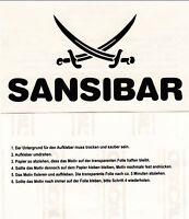 "Sansibar Sylt Auto Aufkleber SCHWARZ  ""DAS ORIGINAL"" ca. 13x7,5 cm"