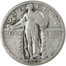 1927 25c Standing Liberty Silver Quarter US Coin F Fine