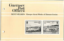 Guernsey 1983 Europa Great Works Of Human Genius MNH Presentation Pack #C40463