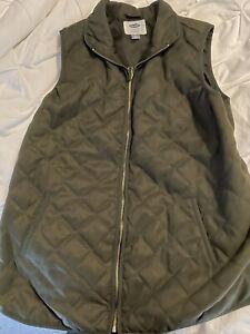 Old Navy Women's Maternity Vest, Olive Green, Size Large