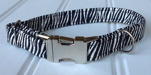 Handmade Zebra Print Dog Collar (matching Lead available)