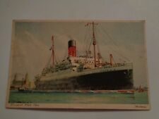 White Star Line RMS Andania Ocean Liner Post Card May 3rd 1937 Free Shipping