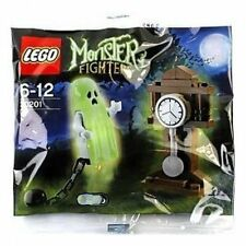 New LEGO Monster Fighters #30201 Ghost Retired Glows in the Dark! Sealed Polybag