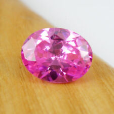 Oval 13x10mm Cut Intense Pink Color Cubic Zirconia 8.95 carats Loose Gemstone