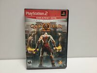 God of War II 2 (Sony PlayStation 2) PS2 Complete Black CIB 2 Disc TESTED