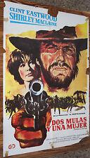 Used - Cartel de Cine  DOS MULAS Y UNA MUJER  Vintage Movie Film Poster - Usado