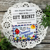 GRAMMIE * Fridge MAGNET Gift * All Grandparent names * just ask!  USA New in Pkg
