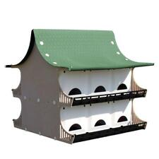 12 family purple martin house | bird resistant birdhouse green pole weather s&k