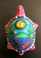 New listing Wonderful Oaxaca Painted Pottery Turtle - Must See!  Signed by Artist