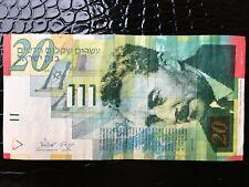 2008 Israel Anniversary 20 New Shekel Paper Money Currency Moshe Sharet