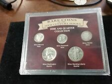 ~> Rare Coins of the 20th Century set in holder ~ dime quarter COLLECTION
