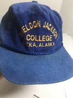Jackson College Sitka Alaska corduroy adjustable  trucker baseball hat cap