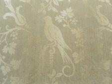 Sanderson Curtain Fabric AVALON 2.0m Gold/Wheat - Woven Birds Floral Design