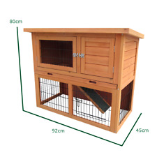 PISCES PETCARE Monza Rabbit Hutch with Run
