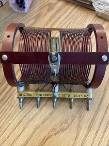 Barker & Williamson Air Inductor Coil Unit 1735 51 C 706 C-387-D 2.0-3.5 MC