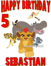 PERSONALIZED CUSTOM LION GUARD T SHIRT PARTY BIRTHDAY ADD NAME AND AGE KING KION