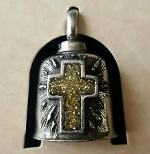 Gold Cross Motorcycle Guardian Angel Harley Good Luck Gremlin Bell Made in USA