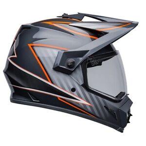 Bell MX-9 Adventure MIPS 2022 Dalton Grey/Orange Motorcycle Helmet