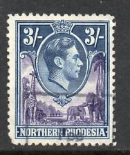 1938 Northern Rhodesia S.G.42 3/- Violet & Blue. Very Fine Revenue Used.