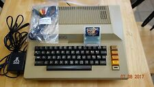 Atari 800 Home Computer, Dust Cover, 8Mb Game Cart, 5-Pin Video, PS, Warranty