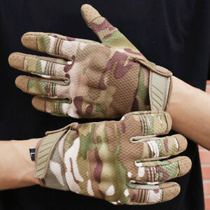 Tactical Gloves Protect Gear Antiskid Screen Touch Bike Riding Breathable Gloves