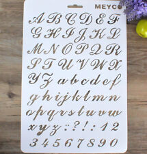 DIY Craft Letter Number Stencils Templates for Scrapbook Wall Paints Home Decor