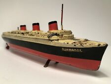 Antique SS Normandie Tin Toy - German/French Tin Toy c.1930's - EXTREMELY RARE -