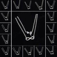 Women Double Ankle Bracelet Infinity Anklet Foot Jewelry Girl Beach Silver Chain