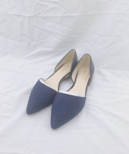 NEW WITH BOX NINE WEST WOMEN'S Shoes  Shelbyo NAVY D'orsay Flats SIZE 5