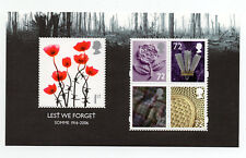 Gb 2006 Lest We Forget 1st. Issue Minisheet with Four x 72p Values Mnh.