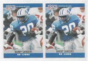 Barry Sanders 1990 PRO SET NFL FOOTBALL ROOKIE CARD LOT 102 Detroit Lions RC HOF