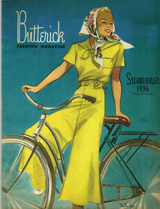 1930s Butterick Summer 1936 Fashion and Pattern Book Catalog E-Book on CD
