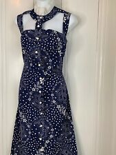 Vtg Rare Poppy Brand 70's Summer Maxi Dress Floral Paisley Victorian Lrg