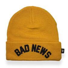 DIAMOND SUPPLY CO 1976 BAD NEWS GOLD HAT BEANIE