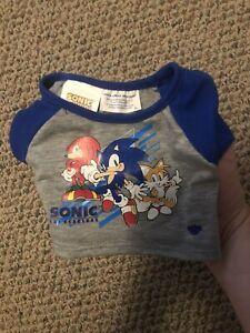 Build-A-Bear Sonic The Hedgehog  T-Shirt Mint Condition