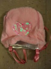 New Furry Pink heart Candy  Backpack School Bag girls toddler