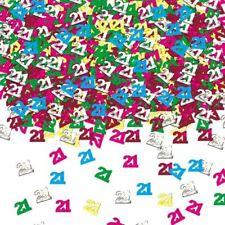 Multicolore 21 Confettis 21st Fête d'anniversaire table copeaux