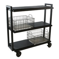 Cart - 3 Tier Wide Collection / Black-23350329