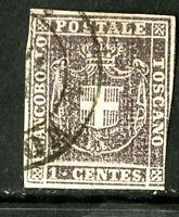 Tuscany Stamps # 17 VF USED Scott Value $1,200.00