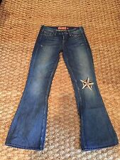 Ladies Lucky Brand Blue Jeans Star Size 00/24 Legend Flare