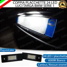 PLACCHETTE A LED LUCI TARGA 24 LED SPECIFICHE BMW SERIE 1 E87 E81 6000K NO ERROR