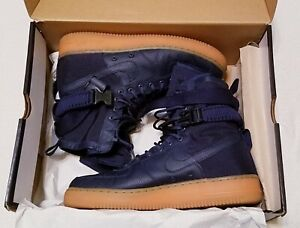 """NIKE AIR FORCE 1 SF AF1 """"SPECIAL FIELD"""" MIDNIGHT NAVY BLUE SZ 10.5 [864024-400]"""