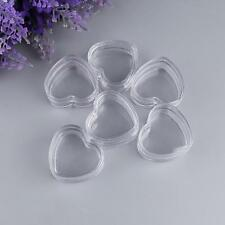 Plastic 10Pcs Empty Cosmetic Lip Balm Cream Pot Jar Box Container Heart Shaped