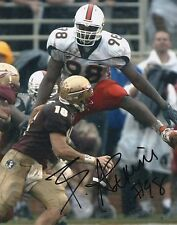 Baraka Atkins Miami Hurricanes Hand Signed 8x10 Photo Autographed COA