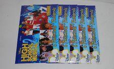 LOT DE 5 POCHETTES PANINI PHOTO CARDS DISNEY HIGH SCHOOL MUSICAL 2 2007