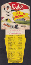 1952 COKE BASEBALL PEEWEE REESE SCHEDULE AND TIPS NEAR MINT CONDITION